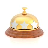 Three star hotel's reception bell Stock Image