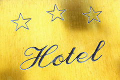 Three star hotel sign Stock Image