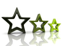 Three stars 2 Royalty Free Stock Photos