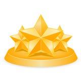 Three stars Royalty Free Stock Photos