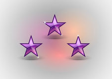 Three stars Royalty Free Stock Photos