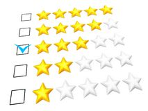 Three stars rating Royalty Free Stock Photos