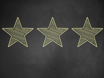 Three stars ratings Royalty Free Stock Image