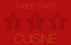 Three Stars Restaurant Stock Images