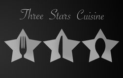 Three Stars Restaurant Royalty Free Stock Photo