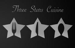 Three Stars Restaurant Royalty Free Stock Photo