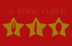 Three Stars Restaurant Stock Photography