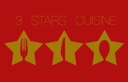 Three Stars Restaurant Stock Photography