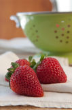 Three Starwberries Stock Image
