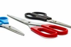 Three stationery scissors Stock Photo