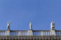 Three statues, Venice. Stock Image