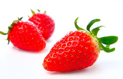 Three stawberries Royalty Free Stock Image