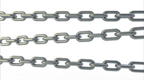 Three steel chains Stock Images