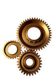 Three steel cogwheels Royalty Free Stock Image