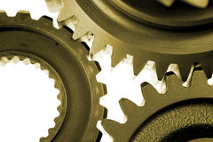 Three steel gears Stock Images