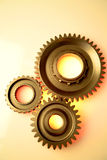 Three steel gears Stock Photography