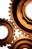 Three steel gears Stock Photos