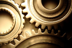 Three steel gears Stock Photo