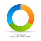 Three step diagram. Add your own data vector illustration