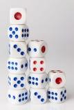 Three step dice Royalty Free Stock Image