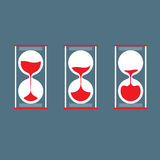 Three Step Of Hourglass Royalty Free Stock Photo