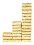 Three step wafer Stock Image