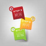 Three Steps. Vector Paper Progress background / product choice or versions Royalty Free Stock Photo