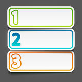 Three steps banners Royalty Free Stock Photography