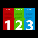 Three steps Royalty Free Stock Images
