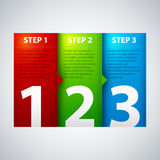 Three steps Royalty Free Stock Photography
