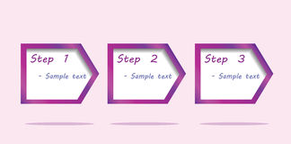 Three steps diagram Royalty Free Stock Image