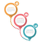Three Steps Diagram Template Stock Image