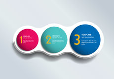 Three steps elements bubble chart, scheme, diagram. Infographic template Royalty Free Stock Photo