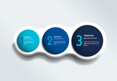Three steps elements bubble chart, scheme, diagram. Infographic template Royalty Free Stock Photos