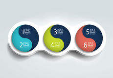 Three steps elements bubble chart, scheme, diagram, template. Infographic template Stock Images