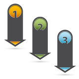Three steps infographic arrows Stock Images