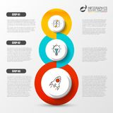 Three steps. Infographic design template. Business concept. Vector illustration Royalty Free Stock Photos
