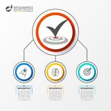 Three steps. Infographic design template. Business concept. Vector illustration Stock Image