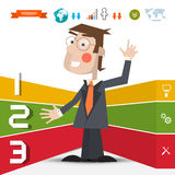 Three Steps Infographic Layout Royalty Free Stock Photo