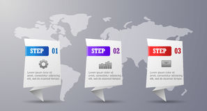 Three steps infographic royalty free stock photos