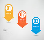 Three Steps Infographics. Can illustrate a strategy or a workflow Royalty Free Stock Images