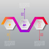 Three steps infographics. Infographic template Royalty Free Stock Image