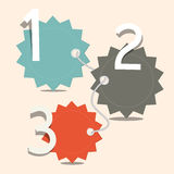 Three Steps Infographics Layout Royalty Free Stock Photos