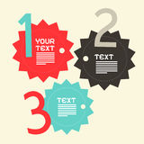 Three Steps Paper Vector Infographics Flat Design Royalty Free Stock Image