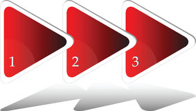 Three steps triangle diagram Stock Images