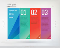 Three steps vector illustration. Three steps infographic illustration. 123 vector illustration Royalty Free Stock Images