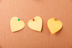 Three sticker - heart Stock Photography