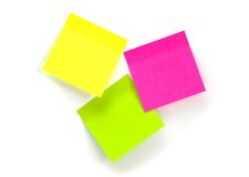 Three stickers. On the white background Royalty Free Stock Photography