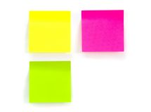 Three stickers. Anainst white background Stock Photos