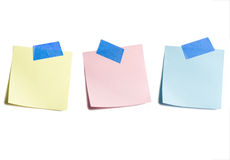 Three Sticky Notes Royalty Free Stock Images